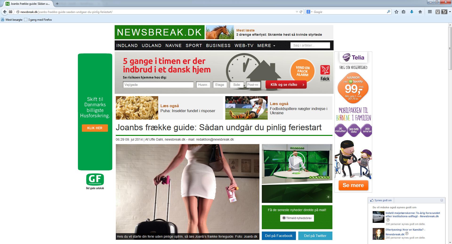 Undgå pinlig feriestart bragt på Newsbreak.dk