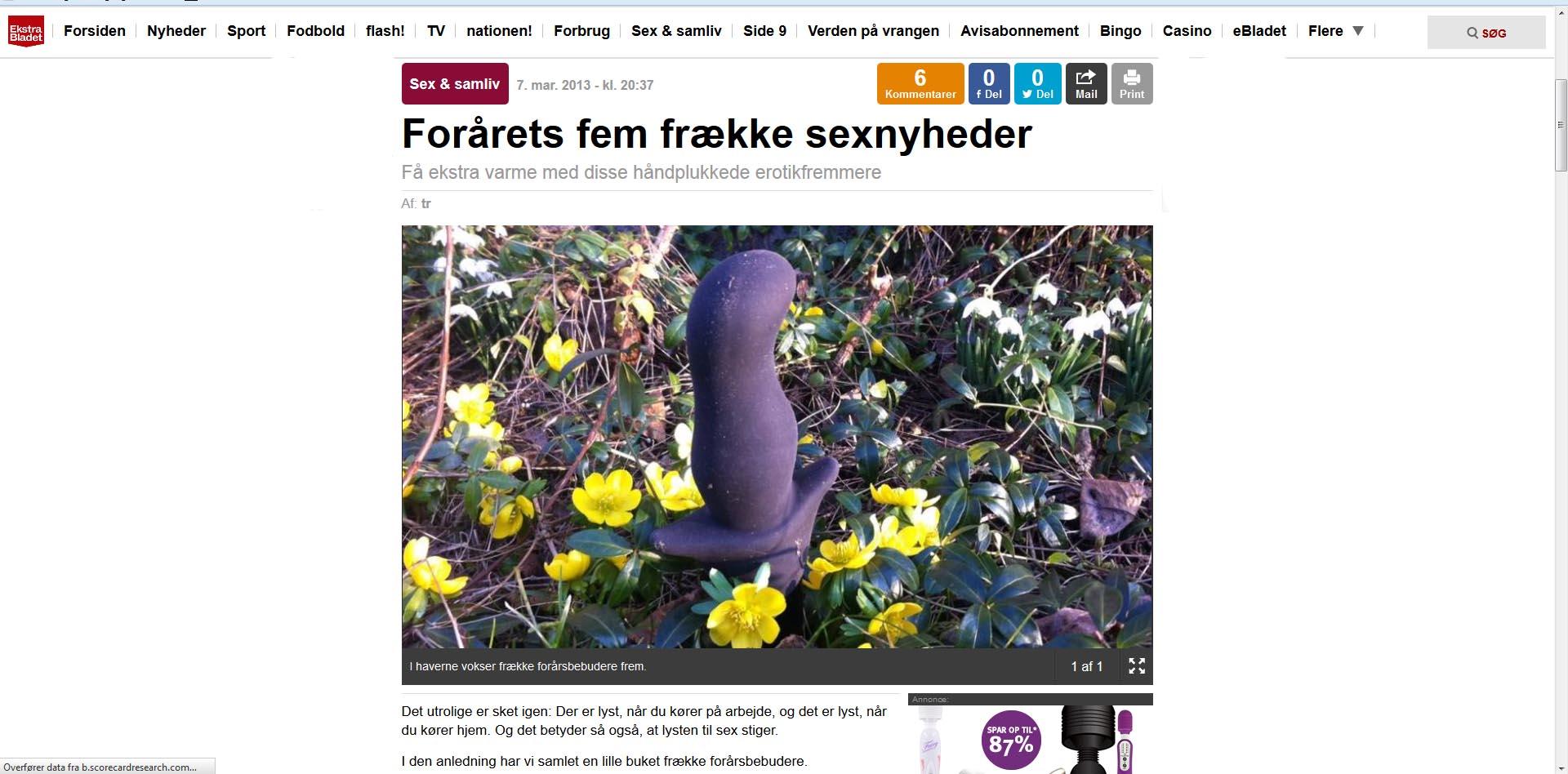 Lidt forårs hygge på Ekstra Bladet