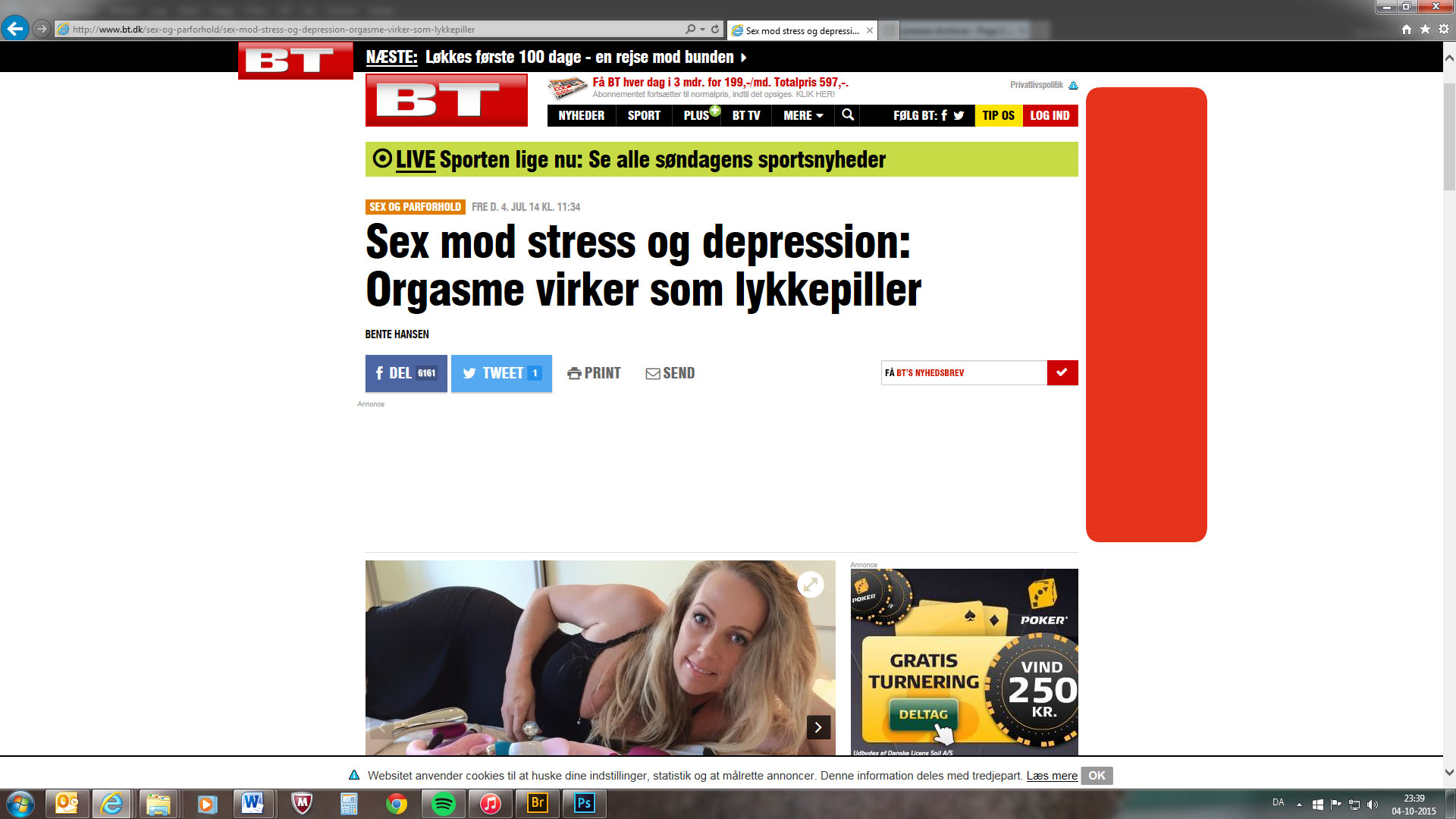 Bt.dk bringer artikel om orgasme og depression
